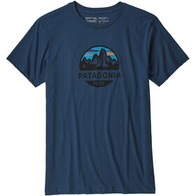 Patagonia Fitz Roy Scope Organic T-Shirt Men Stone Blue